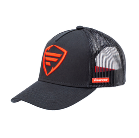 red logo/black tracker cap