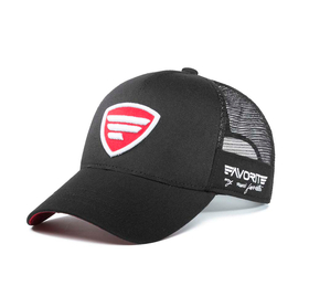 white-red logo/black tracker cap