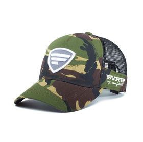 white-gray logo/camo tracker cap