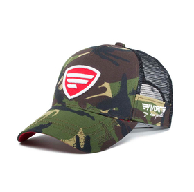 white-red logo/camo  tracker cap