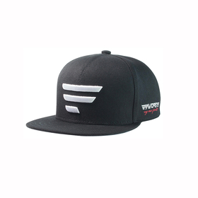 white logo/black snapback