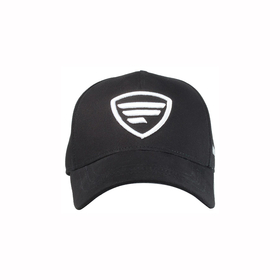 white logo/black baseball cap