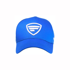 white logo/blue baseball cap