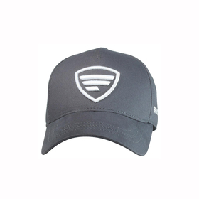 white logo/ gray baseball cap