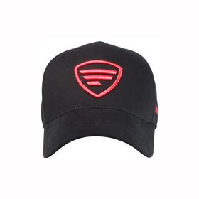red logo/black baseball cap