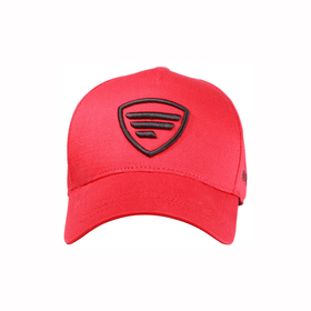 black logo/red baseball cap